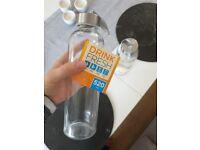 NEW: glass water bottle 520ml