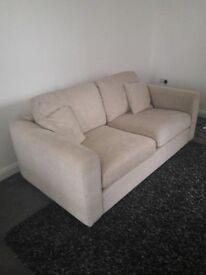 Cream 3 Seater Sofa