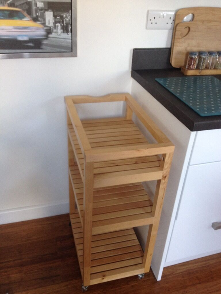 Ikea Molger Wooden Storage Trolley In Mickleover