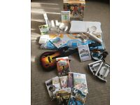 MASSIVE BUNDLE - Wii Console + 2 Controllers + 12 Games + Wii Fit Board + Dance Mat + More