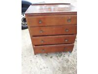 OAK CHEST OF DRAWERS. IDEAL SHABBY CHIC OR RESTORATION PROJECT