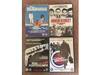 Selection of 4 British crime gangster-type DVD films
