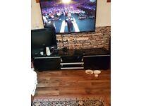 Ikea gloss black tv unit