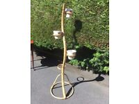 Vintage Retro Bamboo Plant Stand Large 4 pot holder 70s