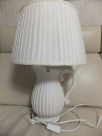 Kitchen Dining room Table Lamp jug with silk shade £30