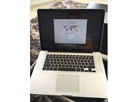 "15"" Apple MacBook Pro-2.0GHz Intel Core i7 Processor. Updated SSD. 4 Gb"