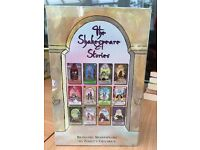 A brand new set of 12 books depicting The Stories of Shakespeare, still in plastic casing