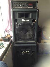 Marshall stacks/speakers