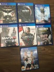 PS4 games £10 each or all for £50