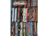 Job lot of over 110 DVDs plus lots of CDs