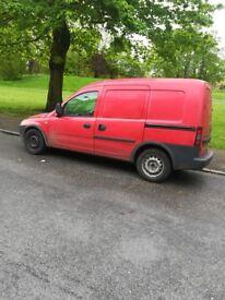 Small van sidedoor 2008 reg opal combo vauxhall combo van for spear or repair or part not start van