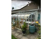 LEAN TO CONSERVATORY/GREENHOUSE-WILL BE COMING DOWN NEXT WEEK