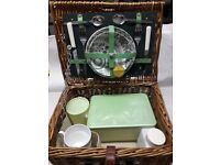 Wicker basket picnic set for 2, ready for those summer days!!