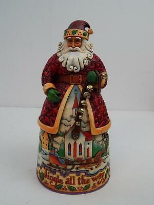 Jim Shore Bells On Bobtail Ring 2007 Santa Claus Figure 4007925 ()