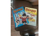 BEANO books 1995 and 1999 good condition