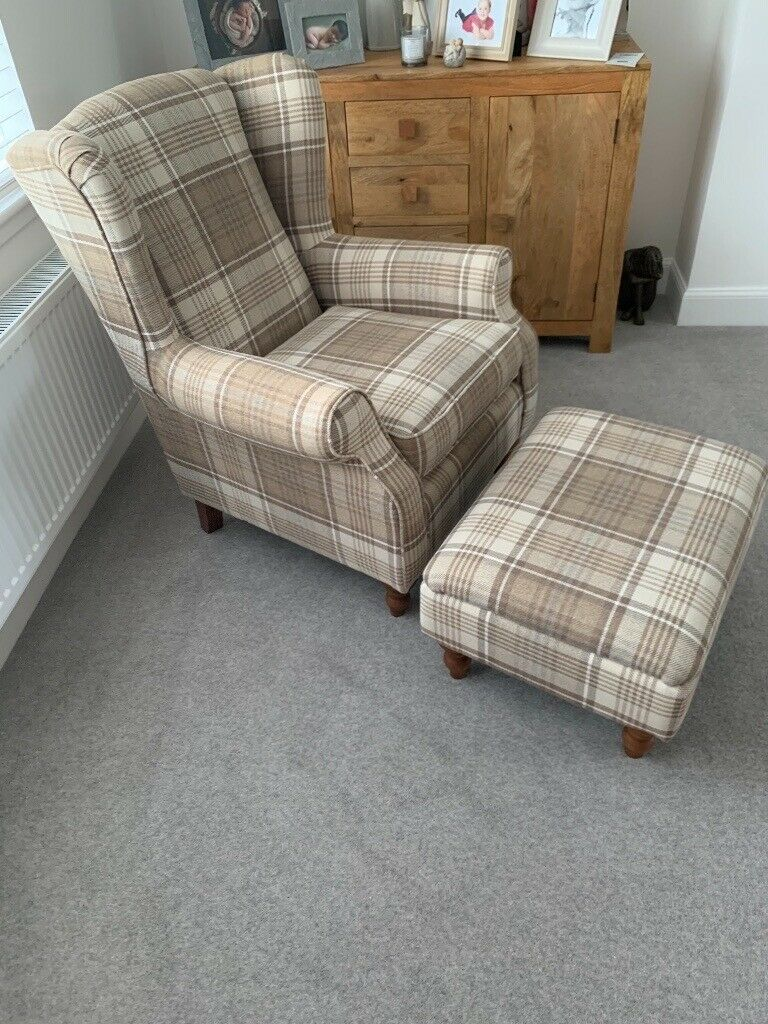 Next Sherlock armchair and footstool for sale - great ...