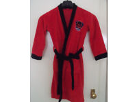 childs star wars darth vader dressing gown red / black age 9-10 years