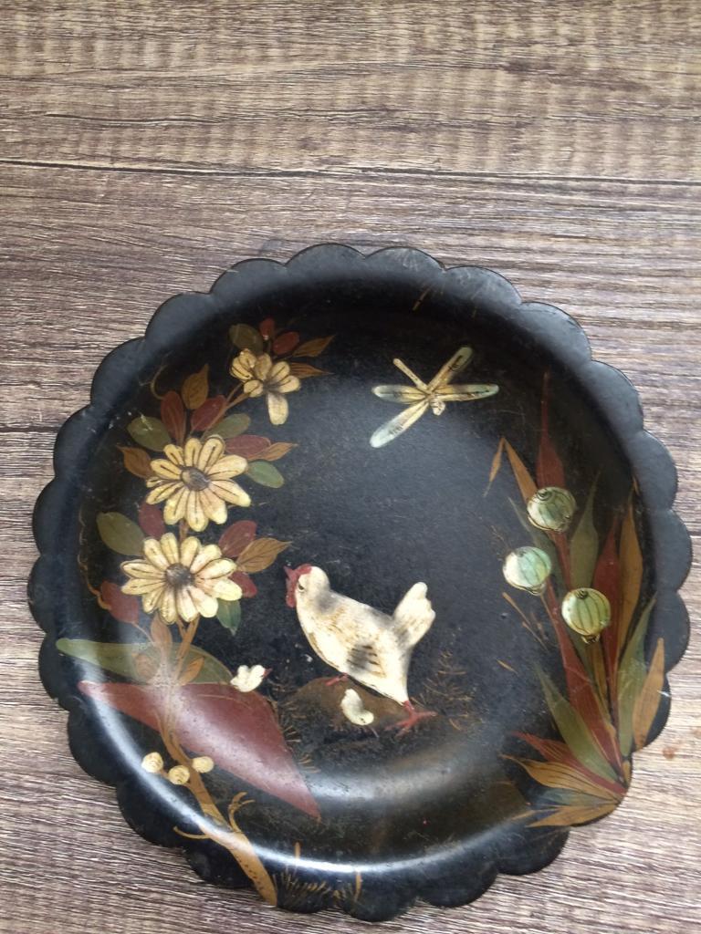 Victorian papier mâchplatein Darlington, County DurhamGumtree - Beautiful Victorian hand painted papier mâché plate. Birds dragonfly and flowers hand painted