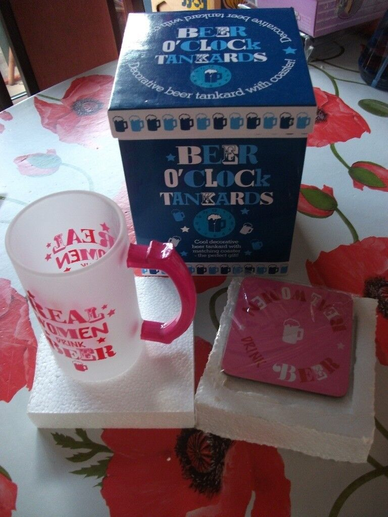 Real Women Drink Beer Tankard and Coaster