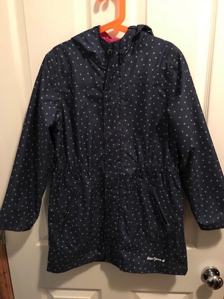 Girls Peter Storm rain coat 9-10 years