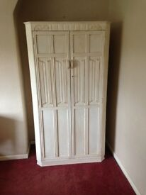 Wardrobe Solid Wood, Bedroom Furniture, Vintage Country Style