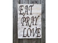 kitchen sign, dining room sign, above the table sign, shabby chic,sign, reclaimed wood sign,sign