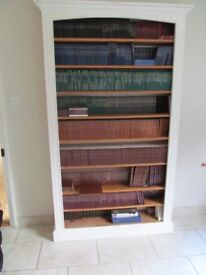 Pine and painted solid bookshelves