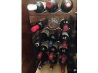 Chrome floor standing or wall mounted 15 bottle wine rack