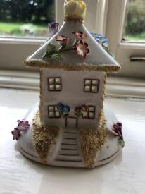 "Coalport Bone China Cottage Ornament ""The Summer House"""