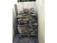 DELABOLE SLATE/STONE. ABOUT A CUBIC METRE. IDEAL WALLING OR CRAZY PAVING