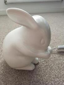 Bone china, white rabbit lamp