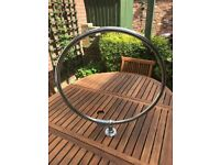 Good Quality - Circular Chrome Shower Rail & Hooks - Excellent Condition