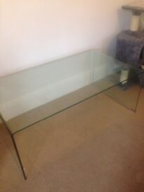 Coffee Table Tempered Glass Transparent
