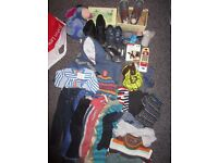 BOY 18-24 month clothes and shoe few toys bundle