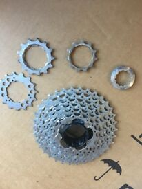 Shimano Deore XT 9 Speed Cassette. Barely used, very little wear. 11-32