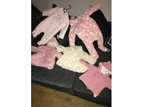 Baby girls jackets/snow suit 3-6 months