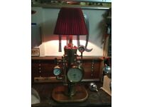 brass lamp converted from brass fire pump a one off