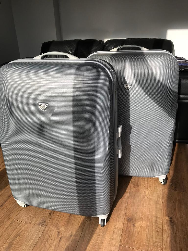 Sold x Large Antler Hard-case suitcases in Silver