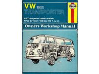 HAYNES VW 1600 TRANSPORTER WORKSHOP MANUAL 1968 - 1972 AIR COOLED
