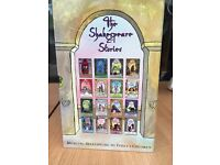 a set of 16 children's books depicting the stories of Shakespear, in their original box, untouched.