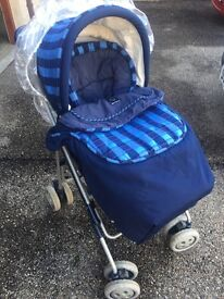 Pushchair mama and papa blue