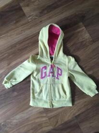 Girls Gap Zipped Hoodie Age 3