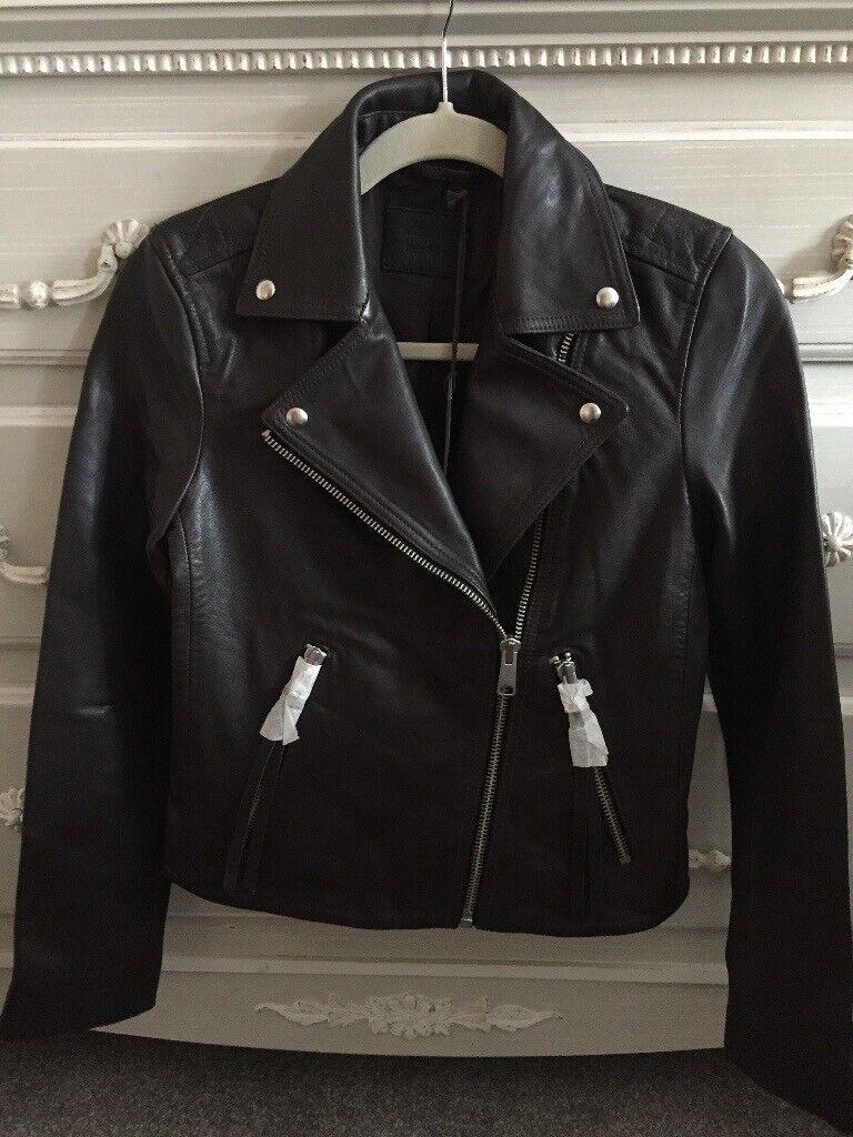 e69bd6f82 All Saints Genuine Dalby biker leather jacket | in Ballymena, County Antrim  | Gumtree