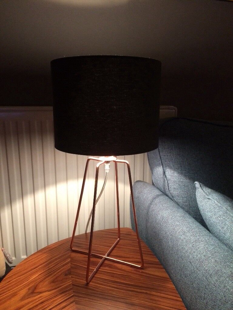 Two copper wire base table lamps retro style in southside two copper wire base table lamps retro style greentooth Choice Image