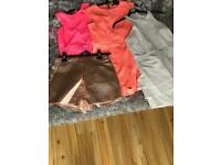 3 playsuits 1 skort size 10