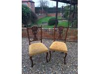 Beautiful pair of French antique chairs