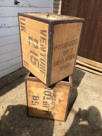 Vintage Wooden tea chests