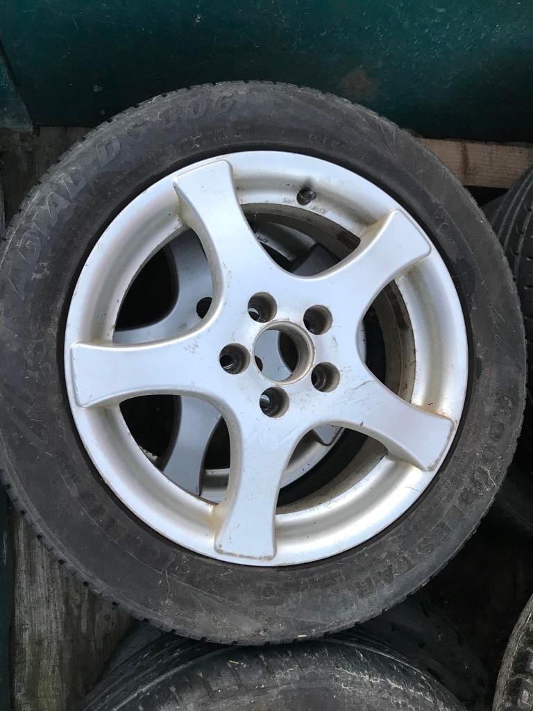 Set of 4 alloy wheels. Ibiza/polo/golf 5x100 stud pattern