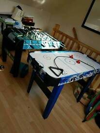 Air hockey and football tables