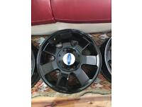 Ford alloy wheels in gloss black
